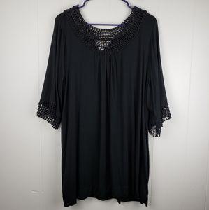 SOFT SURROUNDINGS Black Tunic Dress